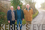 Local residents in Dromin Listowel are  calling on the council to undertake the necessary work to get rid of a ban bend in the area that is causing a lot of concern to people using the route. .L-R Monty Leahy, Tom Murphy and Cllr Tim Buckley.