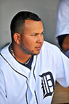 9 March 2012: Detroit Tigers infielder Jhonny Peralta awaits the start of play prior to a Spring Training game against the Philadelphia Phillies at Joker Marchant Stadium in Lakeland, Florida. The Phillies defeated the Tigers 7-5 in Grapefruit League action. Mandatory Credit: Ed Wolfstein Photo