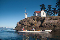 Paddling Around Turn Point, Stuart Island, Washington, US