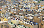 High density buildings town centre of Rabat Victoria Gozo, Malta