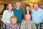 Birthday Party: Frank Greaney, front right, celebrating his birthday with his wife Eileen and family. Margaret Moore, Jack & Mary  Dempsey & tommy Moore at the Horshoe Bar in Listowel on Friday last.