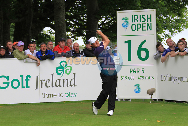 Graeme McDowell teeing off on the 16th tee on day two of the 3 Irish Open, at the Killarney Golf and Fishing Club, Killarney, Ireland.Picture Fran Caffrey/www.golffile.ie.