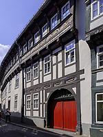 Fachwerkhäuser in der Bergstr. , Goslar, Niedersachsen, Deutschland, Europa, UNESCO-Weltkulturerbe<br /> Halftimbered houses at Berg St., Goslar, Lower Saxony,, Germany, Europe, UNESCO Heritage Site