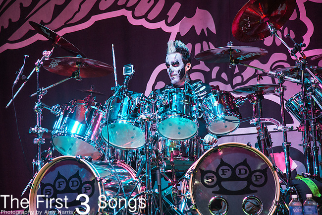 Jeremy Spencer of Five Finger Death Punch performs during the 2016 ShipRocked Cruise. ShipRocked set sail January 18-22, 2016, from Miami to Costa Maya, Mexico on the Norwegian Pearl.
