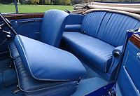 BNPS.co.uk (01202 558833)<br /> Pic: H&HClassics/BNPS<br /> <br /> The cabin has been re-upholstered in acres of blue leather...<br /> <br /> 'W.O. Bentley's Masterpeice' - This 1939 stunner dubbed 'the most the most advanced motor car in pre WW2 Britain' has been restored for sale - but you'll need deep pockets for the £400.000 asking price.<br /> <br /> The beautiful Lagonda V12 Drophead Coupe was designed by W.O.Bentley just as storm clouds were gathering across Europe, and it's top speed of 140mph was unheard of at the time.<br /> <br /> It spent more than 40 years languishing in a barn before being uncovered in 2006.<br /> <br /> It was bought by a wealthy car enthusiast who paid for it to undergo a full 'nuts and bolts' restoration.<br /> <br /> The motor now appears as good as new and is to go under the hammer with auctioneers H&H Classics of Warrington, Cheshire.
