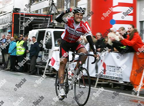 2010-05-02 / Seizoen 2009-2010 / Wielrennen / Sporta Vliegend Wiel Borsbeek / Jochen Vankerckhoven wint de Sporta Vliegend Wiel Borsbeek..Foto: mpics
