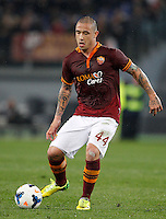 Calcio, Serie A: Roma vs Torino. Roma, stadio Olimpico, 25 marzo 2014.<br /> AS Roma midfielder Radja Nainggolan, of Belgium, in action during the Italian Serie A football match between AS Roma and Torino at Rome's Olympic stadium, 25 March 2014.<br /> UPDATE IMAGES PRESS/Riccardo De Luca