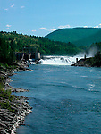 Hydro electric generating dam on Kootenay River at Castlegar British Columbia Canada<br />