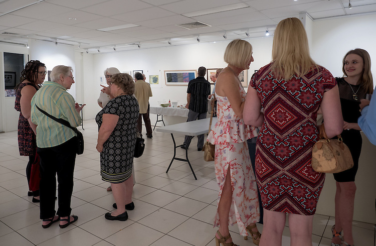"during the , Royal Queensland Art Society Brisbane Branch - ""Diversity in Print"" 2016 opening event and prize giving  at the Royal Queensland Art Society, Brisbane, Queensland, Australia, Wednesday, March 30, 2016. (Photo by John Pryke Photographer)"
