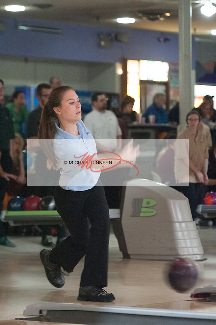 Chugiak's Madison Clark at Central Bowl, Thursday, Dec. 8, 2016.  Photo for the Star by Michael Dinneen