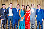 Attending the Castleisland Community College Debs at the Earl of Desmond Hotel on Friday night were  l-r Niall Brosnan, Shane Lynch, Ross Steinborn, Hannah O'Connor, Hannah O'Mahoney, Kieran Horan and Jonathan Hillard.