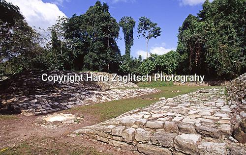 The Ballcourt of Yaxchilan, Mexico, Central America