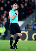 9th December 2017, Selhurst Park, London, England; EPL Premier League football, Crystal Palace versus Bournemouth; Referee Kevin Friend blows for a free kick