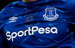 Everton shirt detail during the Premier League match at Goodison Park, Liverpool. Picture date: 7th December 2019. Picture credit should read: Simon Bellis/Sportimage