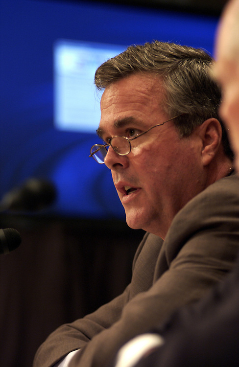 Jeb Bush, R-Fla., during the Senate Armed Services Committee Personnel Subcommittee joint hearing on the Pentagon and State's response to the need of guard and reservists families..