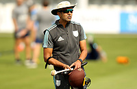 Vikram Solanki - Surrey head coach leads the warm up prior to Essex Eagles vs Surrey, Vitality Blast T20 Cricket at The Cloudfm County Ground on 11th September 2020