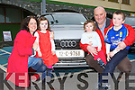 Enjoying the Audi family funday in the INEC Killarney on Sunday was l-r: Helen, Claire, Conor, Sean and David Murphy Portmagee