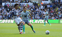 West Bromwich Albion's Nathan Ferguson under pressure from Blackburn Rovers' Lewis Travis<br /> <br /> Photographer Kevin Barnes/CameraSport<br /> <br /> The EFL Sky Bet Championship - West Bromwich Albion v Blackburn Rovers - Saturday 31st August 2019 - The Hawthorns - West Bromwich<br /> <br /> World Copyright © 2019 CameraSport. All rights reserved. 43 Linden Ave. Countesthorpe. Leicester. England. LE8 5PG - Tel: +44 (0) 116 277 4147 - admin@camerasport.com - www.camerasport.com