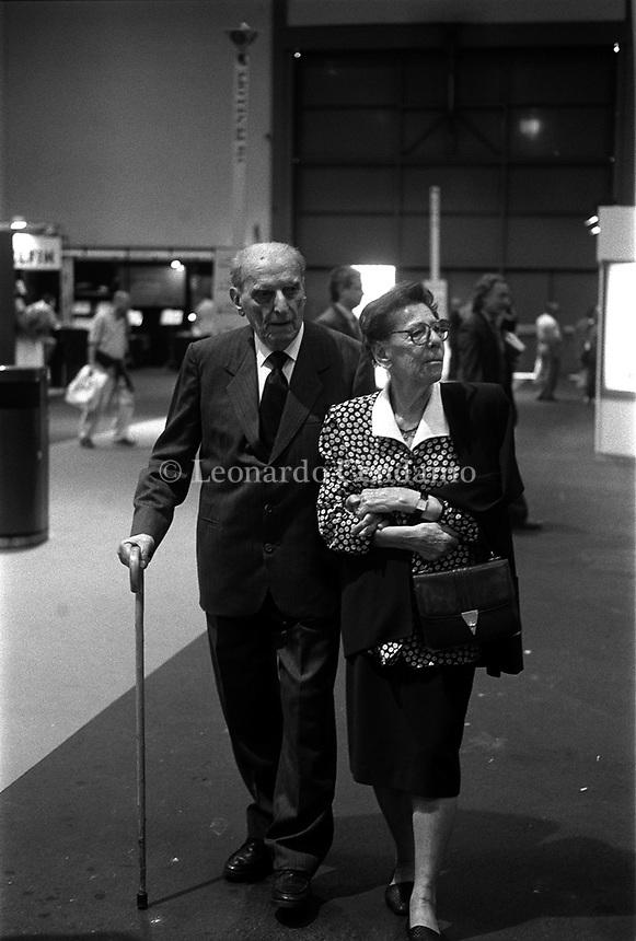 1997: Norberto Bobbio with his wife Valeria   © Leonardo Cendamo