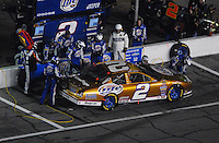 Feb 10, 2007; Daytona, FL, USA; Nascar Nextel Cup driver Kurt Busch (2) pits during the Budweiser Shootout at Daytona International Speedway. Mandatory Credit: Mark J. Rebilas