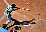 4 July 2010: New York Mets outfielder Angel Pagan in action against the Washington Nationals at Nationals Park in Washington, DC. The Mets defeated the Nationals 9-5, splitting their 4-game series. Mandatory Credit: Ed Wolfstein Photo