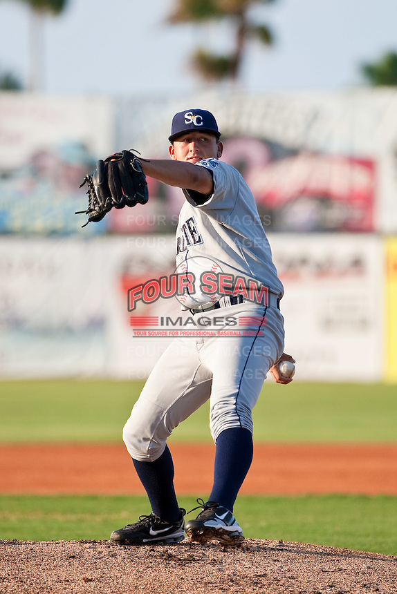 Joseph Cruz (30) of the Charlotte Stone Crabs during a game vs. the Daytona Cubs June 1 2010 at Jackie Robinson Ballpark in Daytona Beach, Florida. Charlotte won the game against Jupiter by the score of 4-1.  Photo By Scott Jontes/Four Seam Images