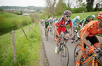 Samuel Sanchez (ESP/BMC) up the 'steepest climb' in Holland: Keutenberg (max 22%)<br /> <br /> Amstel Gold Race 2014