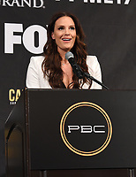 BEVERLY HILLS - MAY 22: Fox's Heidi Androl speaks at press conference in Beverly Hills for the Caleb Plant v Mike Lee Super Middleweight Championship fight on Premier Boxing Champions on FOX Sports Pay-Per-View event on Saturday July 20 in Las Vegas. (Photo by Frank Micelotta/Fox Sports/PictureGroup)