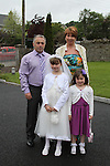 Aoife Hickey with her family at Slane NS Communion...(Photo credit should read Jenny Matthews www.newsfile.ie)....This Picture has been sent you under the conditions enclosed by:.Newsfile Ltd..The Studio,.Millmount Abbey,.Drogheda,.Co Meath..Ireland..Tel: +353(0)41-9871240.Fax: +353(0)41-9871260.GSM: +353(0)86-2500958.email: pictures@newsfile.ie.www.newsfile.ie.