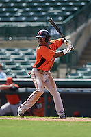 Baltimore Orioles Cedric Mullins (19) during an instructional league game against the Minnesota Twins on September 22, 2015 at Ed Smith Stadium in Sarasota, Florida.  (Mike Janes/Four Seam Images)