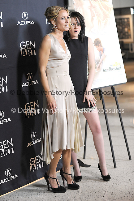Maria Bello & Kristen Stewart at the Samuel Goldwyn Films' L.A. Premiere of The Yellow Handkerchief held at The Pacific Design Center in West Hollywood, California on February 18,2010                                                                   Copyright 2009  DVS / RockinExposures
