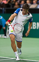 Rotterdam, The Netherlands. 15.02.2014. Igor Sijsling(NED) at the ABN AMRO World tennis Tournament<br /> Photo:Tennisimages/Henk Koster
