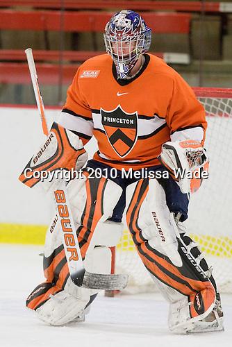 Mike Condon (Princeton - 1) - The Princeton University Tigers defeated the Harvard University Crimson 2-1 on Friday, January 29, 2010, at Bright Hockey Center in Cambridge, Massachusetts.
