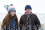 Jennifer Ruane of Abbeyfeale with her father John at the Ballyheigue Races on Wednesday last.