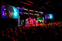 Photography of Charlotte NC's Elevation Church, one of Charlotte's newest and fastest-growing churches. According to Elevation Church, the congregation grew from 20 people to more than 10,000 in just five years, and has been named one of the 10 fastest-growing churches in America by Outreach Magazine. Led by Paster Steven Furtick, Elevation Church worships in six locations across Charlotte. It is an explosive, high-energy service.