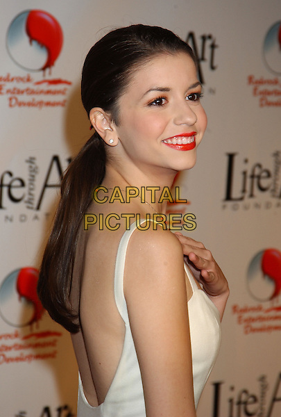 MASIELA LUSHA.The 2nd Annual 'Red Party' to Benefit The Life Through Art Foundation held at the Shrine Auditorium. .December 4th, 2004.headshot, portrait, red lipstick, backless.www.capitalpictures.com.sales@capitalpictures.com.© Capital Pictures.