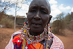 Maasai woman at the Predator Compensation Fund Pay Day, Mbirikani Group Ranch, Amboseli-Tsavo eco-system, Kenya, Africa, October 2012