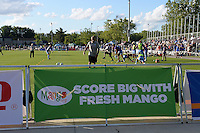 Kansas City, MO - Saturday May 28, 2016: Mango Board at the game between FC Kansas City and Orlando Pride during a regular season National Women's Soccer League (NWSL) match at Swope Soccer Village. Kansas City won 2-0.