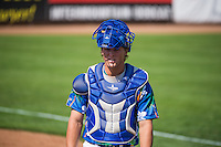 Gage Green (21) of the Ogden Raptors before the game against the Billings Mustangs in Pioneer League action at Lindquist Field on August 16, 2015 in Ogden, Utah. Billings defeated Ogden 6-3.  (Stephen Smith/Four Seam Images)