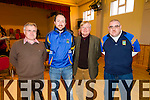 Pictured at the County Finals of Scor Sinsear held in Brosna on Saturday was L-R: Seamus Clifford, John O'Donoghue, Jim Gleeson, Jimmy Darcey, representing Spa Gaa.