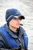 Putney. London. Tideway Week build up to the   2012 University Boat Race over parts of the Championship Course - Putney to Mortlake. CUBC, Blue Boat, Cox, Zoe DE TOLEDO. Thursday  05/04/2012 [Mandatory Credit; Karon Phillips/Intersport-images]..