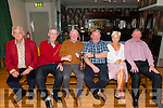 Old Killarney Inn Golf Society celebrated golf outing for Ciss Cronin held in Kenmare last Saturday. Photographed in Old Killarney Inn: L-R Tadgh Galvin (treasurer), Jene Cronin, Donal O'Reilly (outing winner), John Daly (outing winner), Brid Lynch (secretary) and Pat O'Donoghue (president).