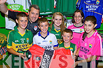 Kerry GAA shop staff in Killarney Outlet Centre has been busy as an unprecedented demand for Kerry merchandise ahead of the Dublin game in the All Ireland semi final in Croke Park next Sunday l-r: Darragh and Niall O'Callaghan, Mark Cooper, Laura and TJ O'Sullivan, Noreen Cooper and Amy O'Callaghan