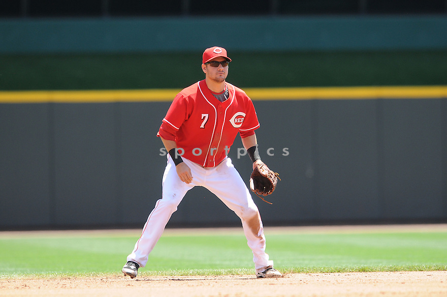 PAUL JANISH,  of the Cincinnati Reds,  in action  during the Reds  game against the San Francisco Giants.  The Reds beats the Giants 7-6 in Cincinnati, Ohio on June 10, 2010...CHRIS BERNACCHI/ SPORTPICS