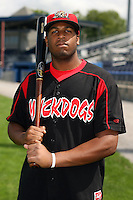 August 26 2008:  Xavier Scruggs of the Batavia Muckdogs, Class-A affiliate of the St. Louis Cardinals, during a game at Dwyer Stadium in Batavia, NY.  Photo by:  Mike Janes/Four Seam Images