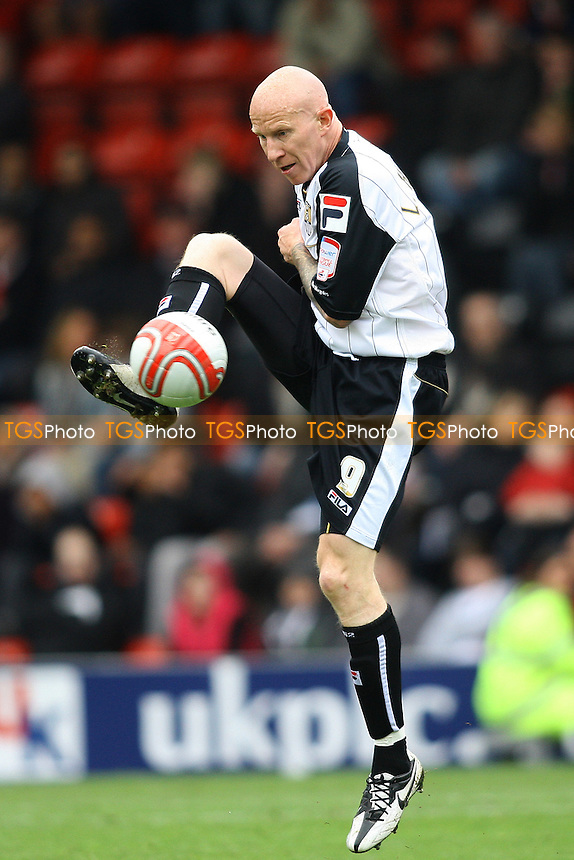 Lee Hughes of Notts County- Leyton Orient vs Notts County - nPower League One Football at The Matchroom Stadium, Brisbane Road - 06/04/12 - MANDATORY CREDIT: George Phillipou/TGSPHOTO - Self billing applies where appropriate - 0845 094 6026 - contact@tgsphoto.co.uk - NO UNPAID USE.
