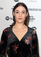 Nadine Shah at the Music Industry Trusts Awards at  Grosvenor House, Park Lane, London, England, UK on Monday ?5th November 2018  <br /> CAP/ROS<br /> &copy;ROS/Capital Pictures