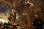 Israel, Jerusalem, the icon of St. Mary at the Basilica of the Agony on the eve of the Feast of the Assumption