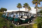 ALCAIDESA - SPANJE -   buggy's,  Heathlands Golf Course en Links Golf. COPYRIGHT KOEN SUYK