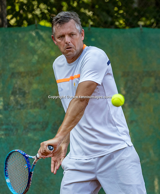 Hilversum, The Netherlands, September 2, 2018,  Tulip Tennis Center, NKS, National Championships Seniors, Men's 50+ final: Leo Pijnacker (NED)<br />